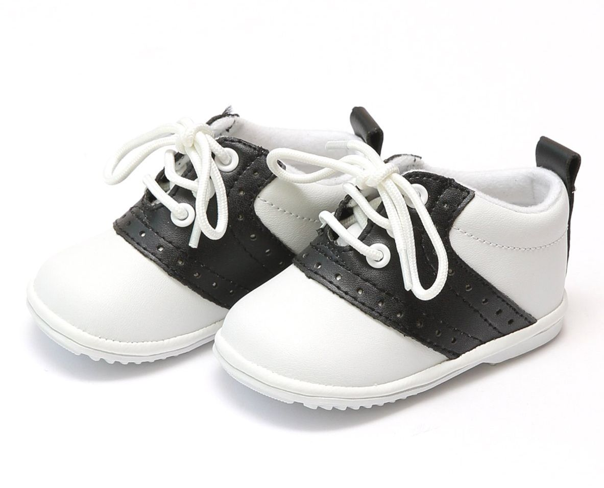 Black and White Saddle Oxford Shoes
