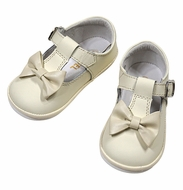 Angel by L'Amour Baby / Toddler Girls Minnie Bow Mary Janes Shoes - Ecru