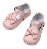 Angel by L'Amour Baby / Toddler Girls Minnie Bow Mary Janes Shoes - Pink