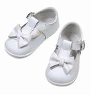 Angel by L'Amour Baby / Toddler Girls Minnie Bow Mary Janes Shoes - White