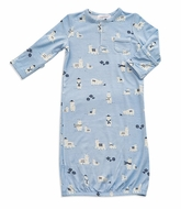 Angel Dear Baby Boys Blue Llama Gown