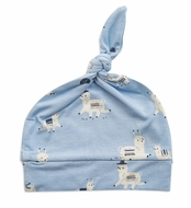 Angel Dear Baby Boys Blue Llama Knotted Beanie Hat