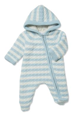 Angel Dear Baby Boys / Girls Sherpa Hooded Footie - Blue Stripe
