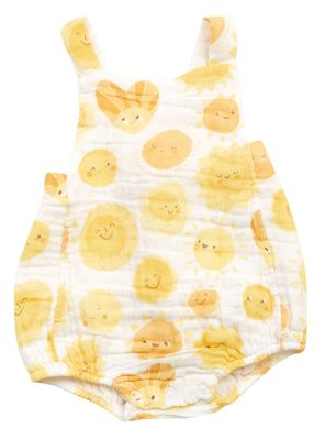 Angel Dear Baby Boys / Girls Yellow Sunshine Retro Bubble Sunsuit
