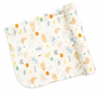 Angel Dear Baby Boys Little Farm Bamboo Swaddle Blanket