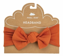 Angel Dear Baby Girls Bow Headband - Autumn Rust
