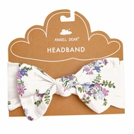 Angel Dear Baby Girls Bow Headband - Lavender Lily of the Valley