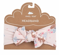 Angel Dear Baby Girls Bow Headband - Pink Woodland Deer