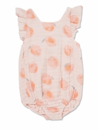Angel Dear Baby Girls Coral Peachy Muslin Bubble Sunsuit