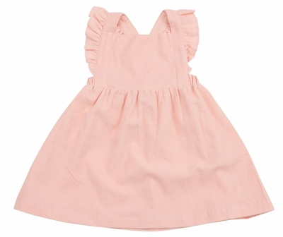 Angel Dear Baby Girls Corduroy Pinafore Dress - Pink