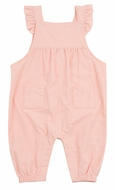 Angel Dear Baby Girls Corduroy Ruffle Overalls Romper - Pink