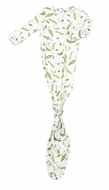 Angel Dear Baby Girls Green Sweet Pea Print Knotted Gown