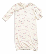 Angel Dear Baby Girls Ivory / Pink Cosmic Unicorn Kimono Gown