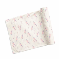Angel Dear Baby Girls Ivory / Pink Cosmic Unicorn Swaddle Blanket