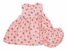 Angel Dear Baby Girls Kimono Dress with Bloomers - Pink Mini Rose