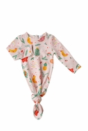 Angel Dear Baby Girls Knotted Gown - Novelty Christmas Ornaments - Pink