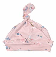 Angel Dear Baby Girls Pink Llama Knotted Beanie Hat