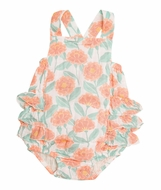 Angel Dear Baby Girls Ruffle Sunsuit Bubble - Marigold Garden