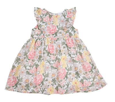 Angel Dear Baby / Toddler Girls Dress - Pink Traditional Floral