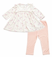 Angel Dear Baby / Toddler Girls Pink Cosmic Unicorn Dress with Leggings