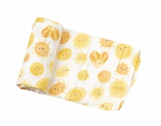 Angel Dear Baby Yellow Sunshine Print Swaddle Blanket