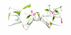 Angel Dear Baby Girls Pink / Green Sweet Pea Headband