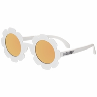 Babiators Sunglasses - The Limited Edition Daisy - Polarized with Mirrored Lenses - White