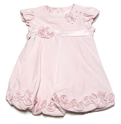 Baby Biscotti Infant / Toddler Girls Pink Ice Princess Velveteen Party Dress