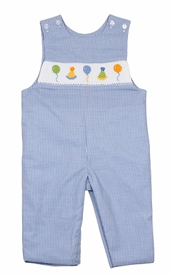 Baby Boys Blue Check Longall - Smocked Birthday Party - Exclusively for The Best Dressed Child by Anavini
