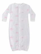 Baby Noomie Infant Girls Clouds Converter Gown - Pink