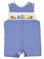 Baby / Toddler Boys Royal Blue Check Jon Jon - Smocked Back to School - Exclusively for The Best Dressed Child by Anavini