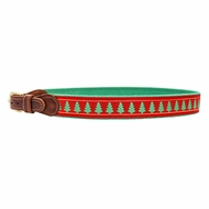 Bailey Boys Buddy Belt - Red with Christmas Trees