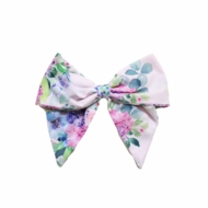 Be Girl Girls Classic Hair Bow - Spring Lilac Floral