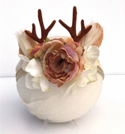 Bella Reese Baby Girls Deer Baby Antler & Flowers Headband