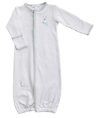 Magnolia Baby Boys Gray Best Buddy Dog Converter Gown