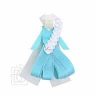 Beyond Creations Girls Pinch Clip Add-On to Bow - Frozen Blue Princess Elsa
