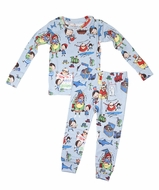 Books to Bed Boys Blue How to Babysit a Grandpa Pajamas Only - Blue