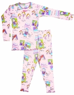 Books to Bed Girls Pink How to Babysit a Grandma Pajamas Only - Pink