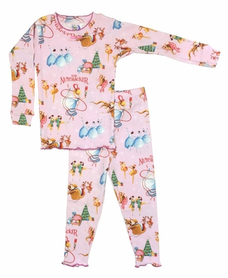 3094abc9ef14 Books to Bed Girls Pink Nutcracker Christmas Ballet Pajamas Only