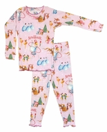 Books to Bed Girls Pink Nutcracker Christmas Ballet - Pajamas Only