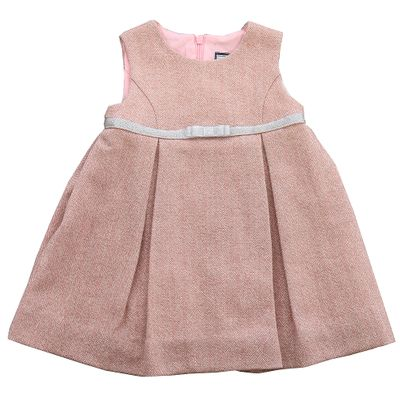 Busy Bees Baby / Toddler Girls Sleeveless Pink Sparkle Tweed Gemma Dress