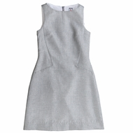 Busy Bees Girls Silver Sparkle Ophelia Dress - Sleeveless