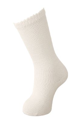 Carlomagno Socks - Boys Perle Scottish Yarn Knee High Socks - Natural Ivory