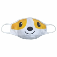 iscream Children's Reversible Face Mask - Yellow / Aqua Corgi Dog