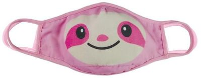 Children's Reversible Face Mask - Pink Sloth & Rainbows