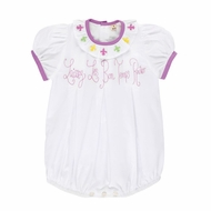 Christian Elizabeth & Co. Baby / Toddler Girls White Laissez Les Bon Temps Rouler Bubble