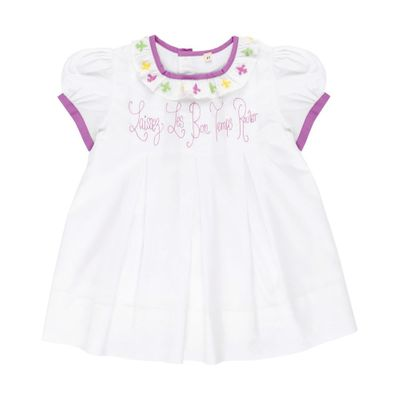 Christian Elizabeth & Co. Baby / Toddler Girls White Laissez Les Bon Temps Rouler Dress