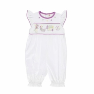 Christian Elizabeth & Co. Baby / Toddler Girls White Mardi Gras Romper
