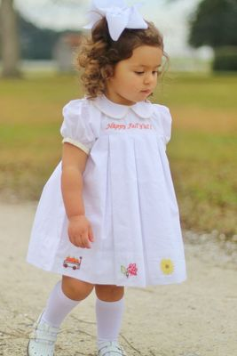 Christian Elizabeth & Co. Girls Happy Fall Y'all Dress
