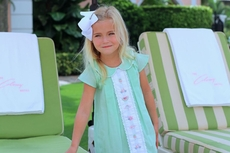 Christian Elizabeth & Co. Girls Mint Green Embroidered Buffett Beach Club Dress